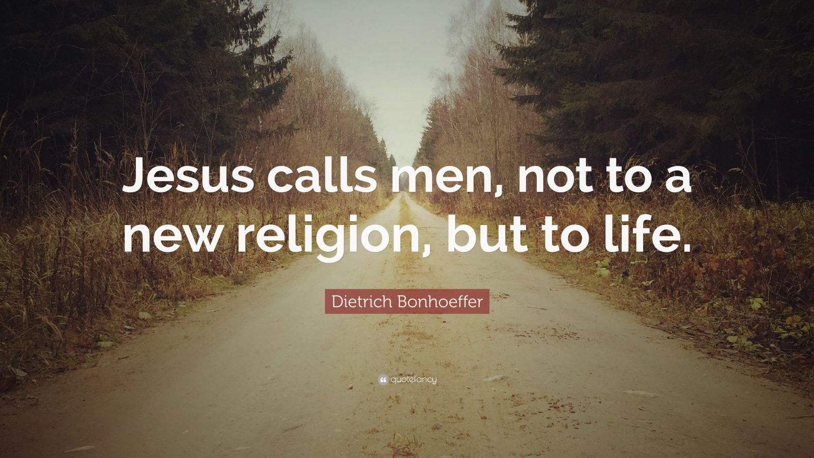 "Dietrich Bonhoeffer Quote: ""Jesus calls men, not to a new religion, but to life."""