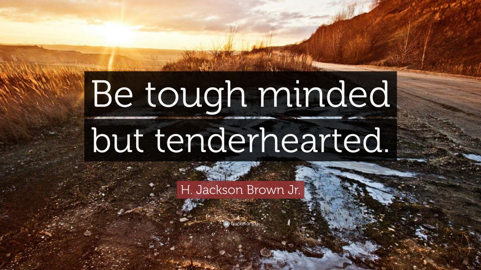 """H. Jackson Brown Jr. Quote: """"Be tough minded but tenderhearted."""""""