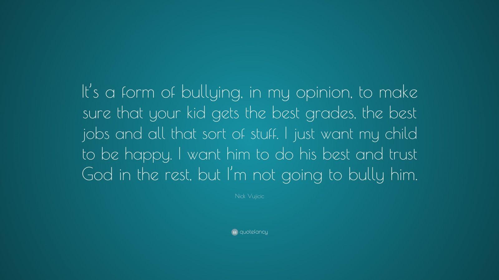 bullying opinion