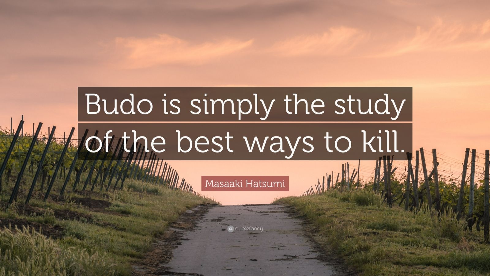 """Masaaki Hatsumi Quote: """"Budo is simply the study of the best ways to kill."""""""