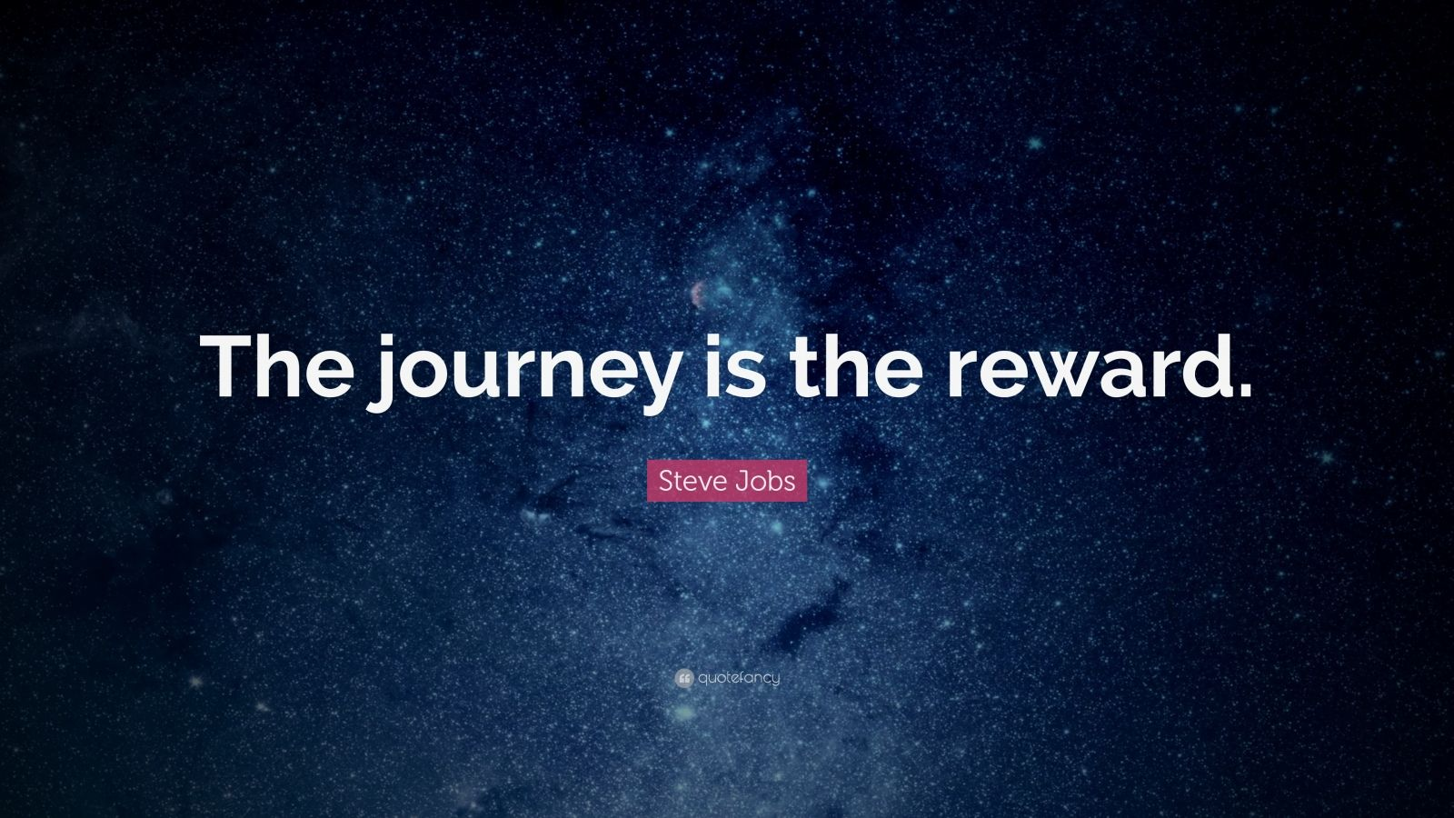 journey is the reward