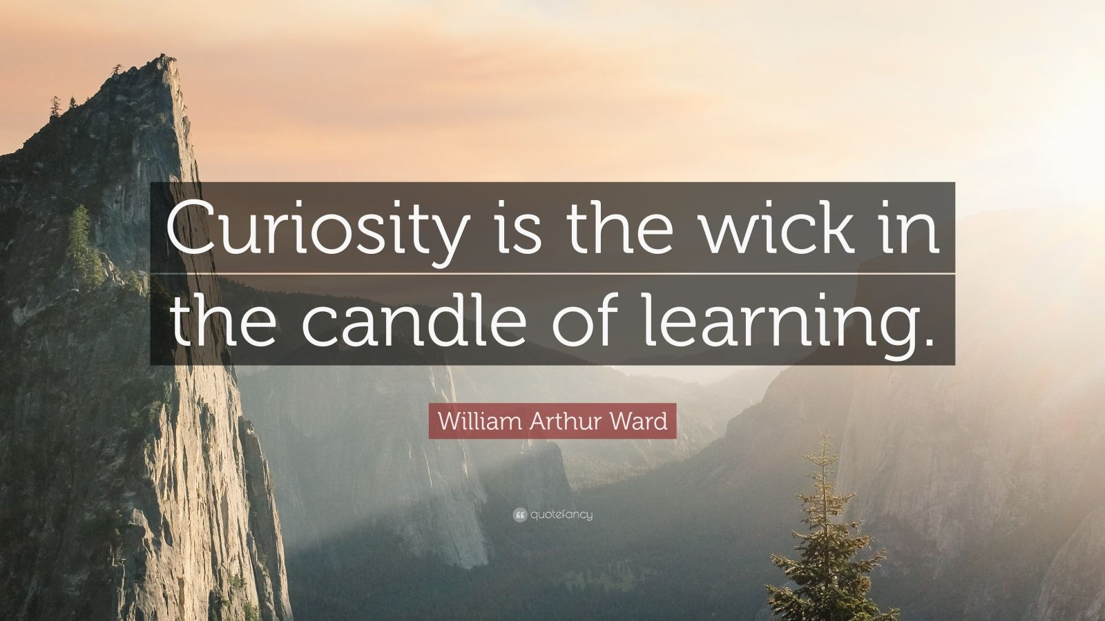 "William Arthur Ward Quote: ""Curiosity is the wick in the candle of learning."""
