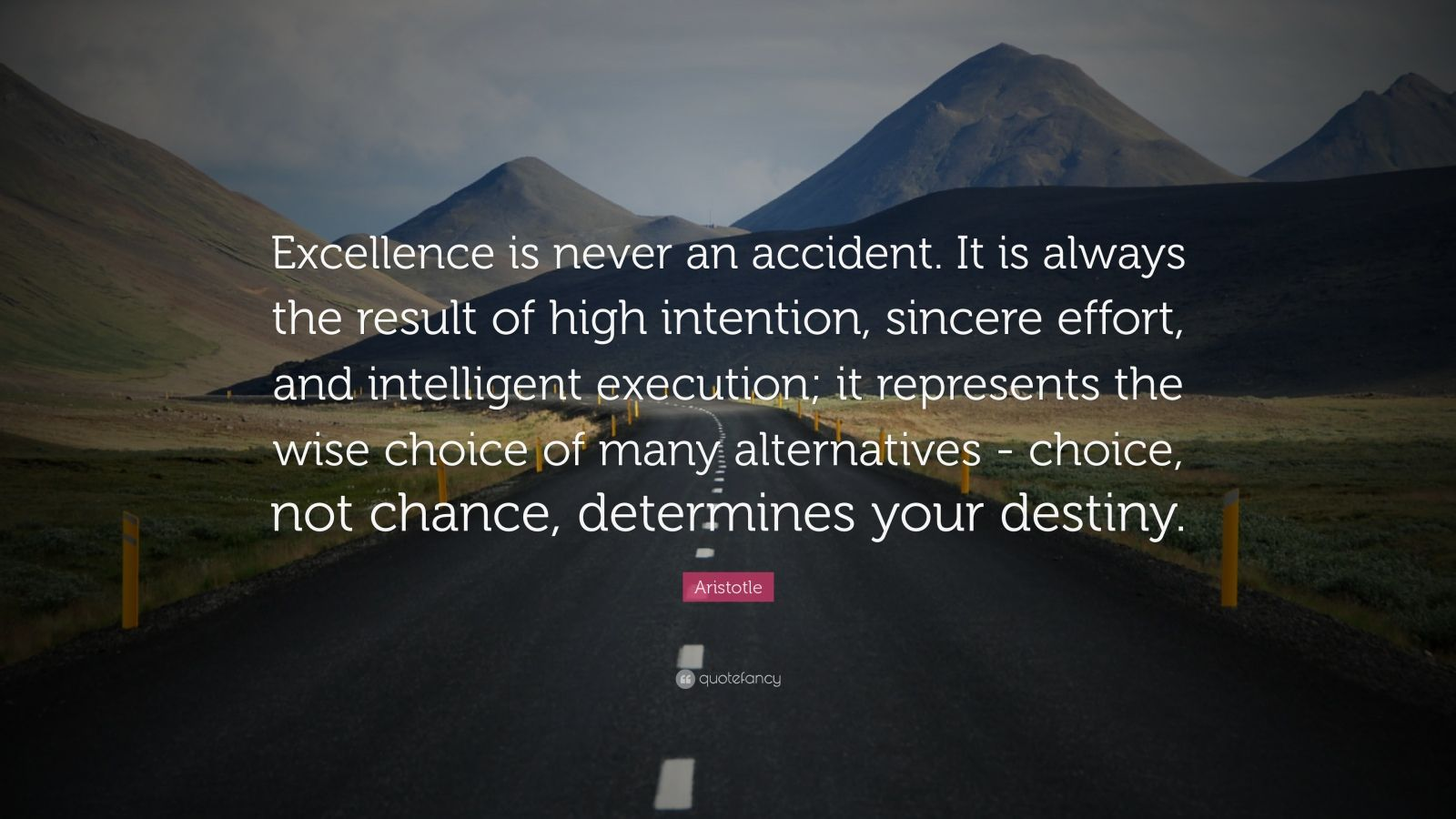 aristotle on excellence in leadership 1 post published by babou on february 4, 2013 daily archives: february 4, 2013 excellence in leadership aristotle once said we are what we repeatedly do excellence, then, is not an act, but a habit.
