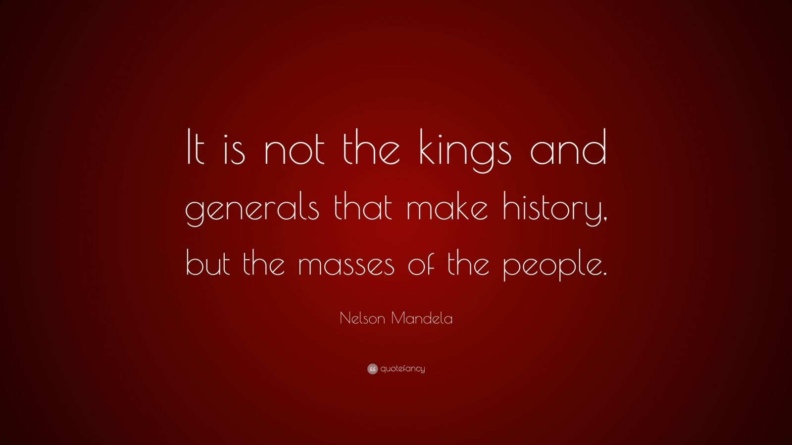 the people are not the masses