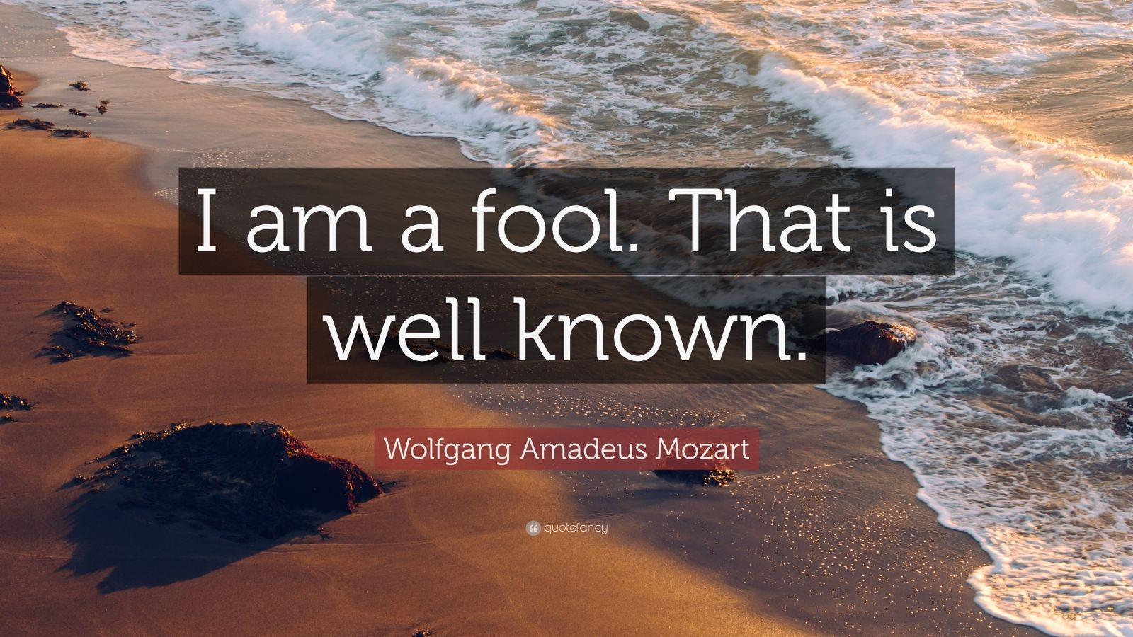"""Wolfgang Amadeus Mozart Quote: """"I am a fool. That is well ..."""