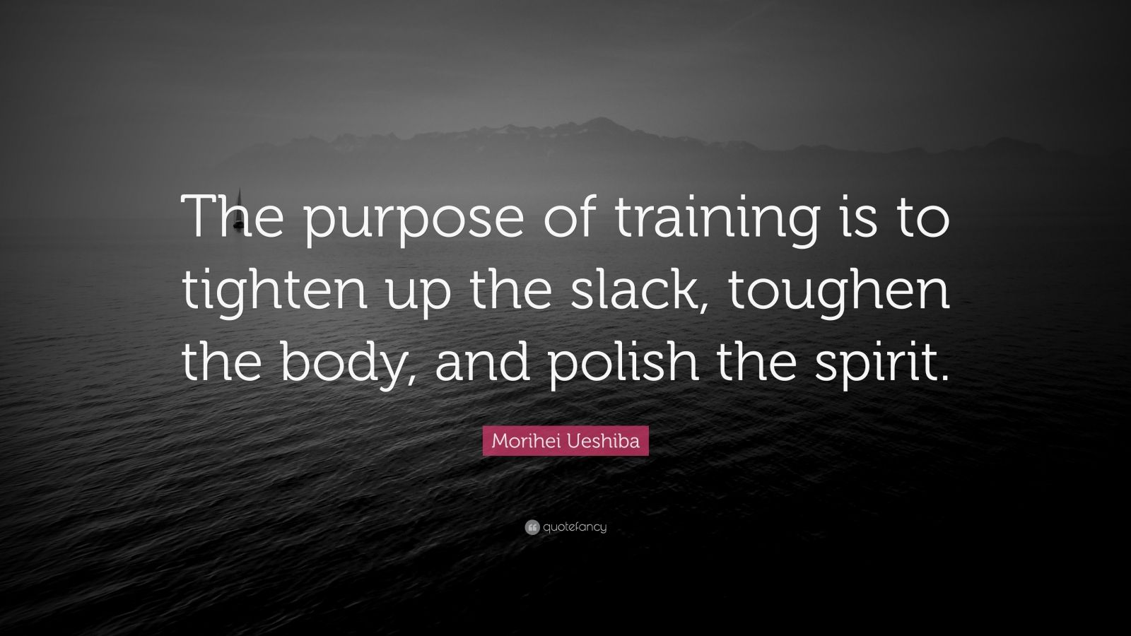 Morihei Ueshiba Quote The Purpose Of Training Is To