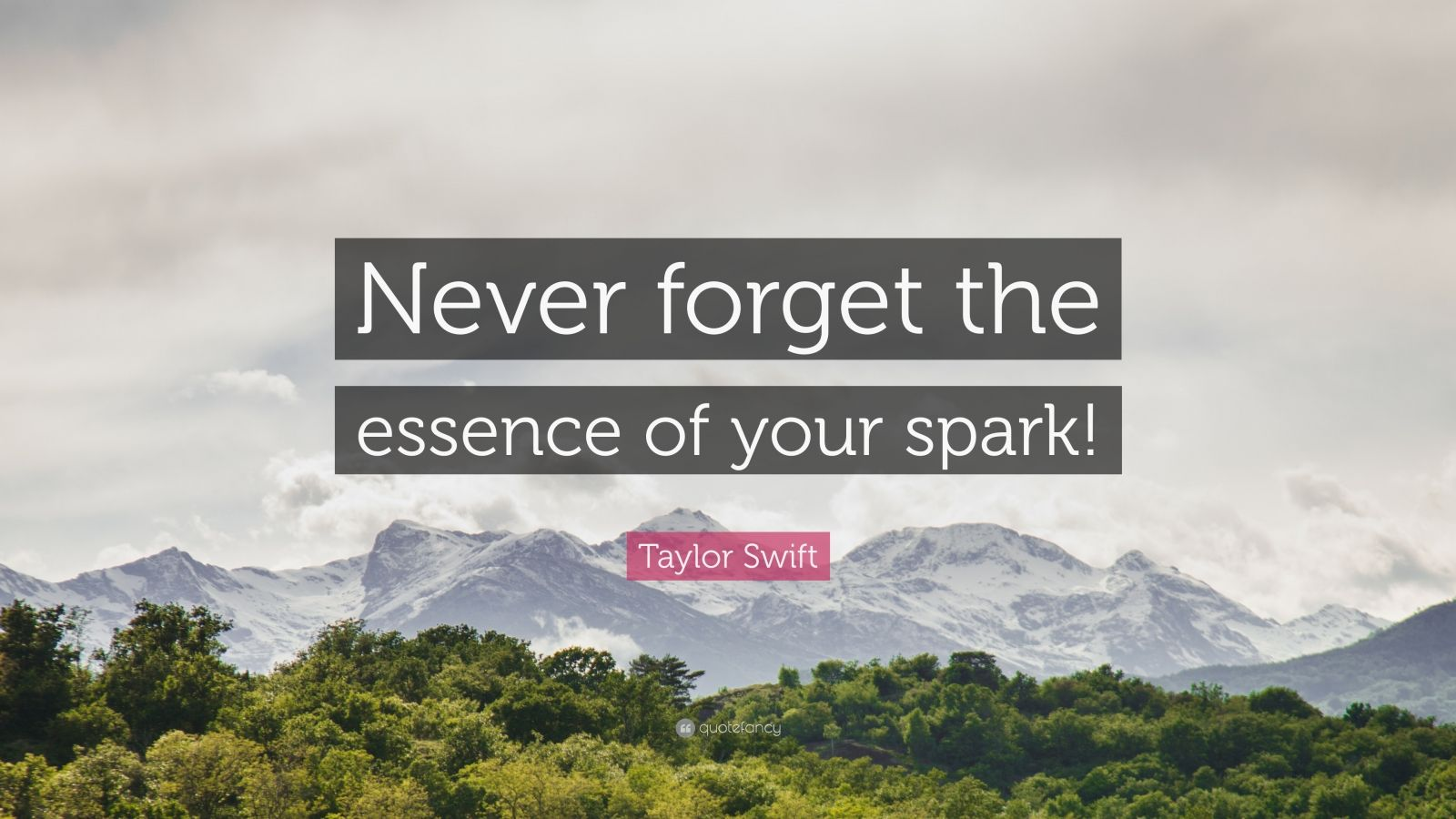 """Taylor Swift Quote: """"Never forget the essence of your spark!"""""""