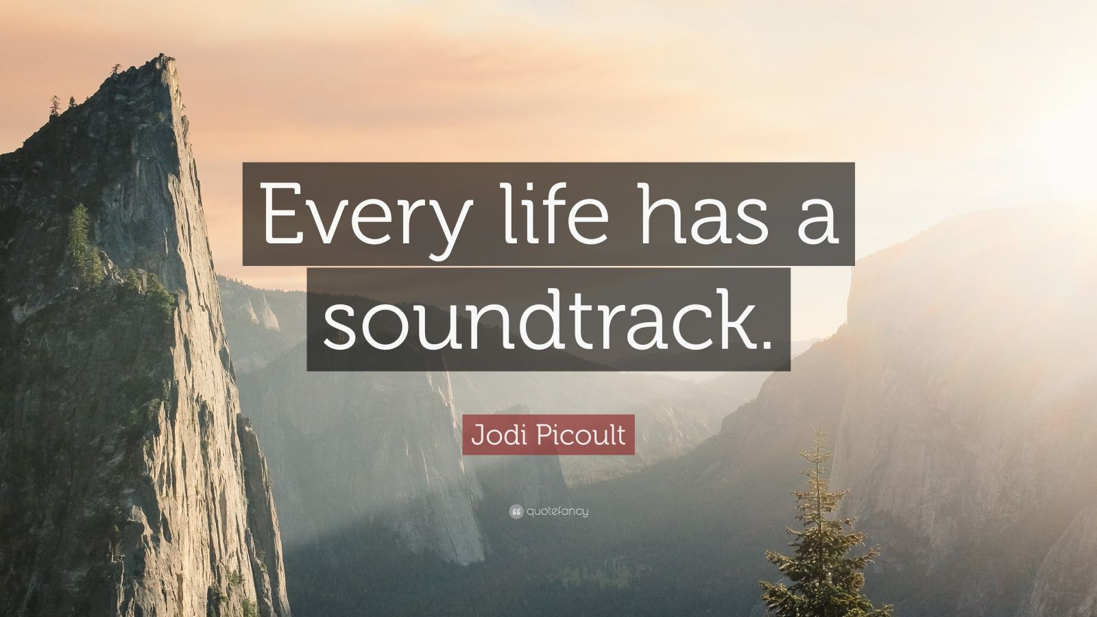 "Jodi Picoult Quote: ""Every life has a soundtrack."""