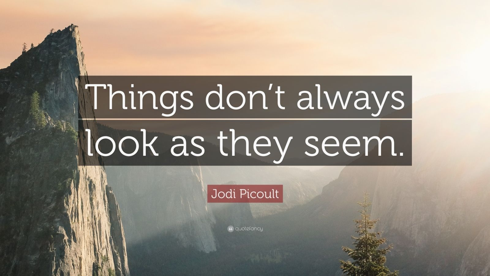 "Jodi Picoult Quote: ""Things don't always look as they seem."""