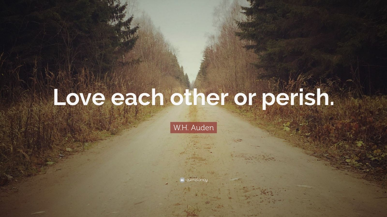 Wallpaper Love Each Other : W.H. Auden Quote: ?Love each other or perish.? (12 wallpapers) - Quotefancy