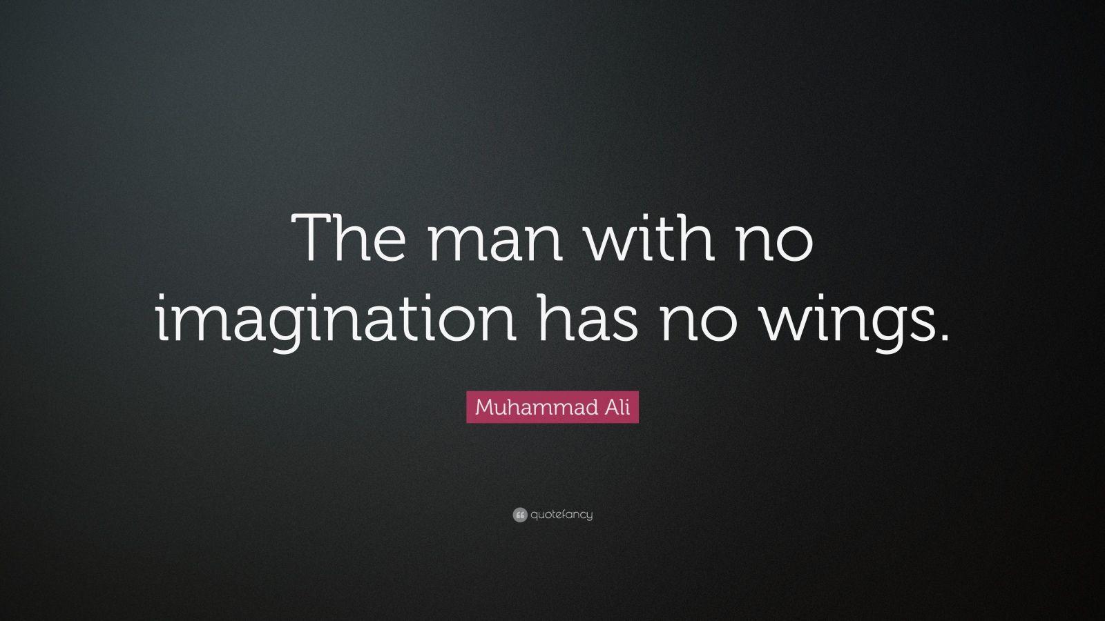 Muhammad Ali Quote Wings