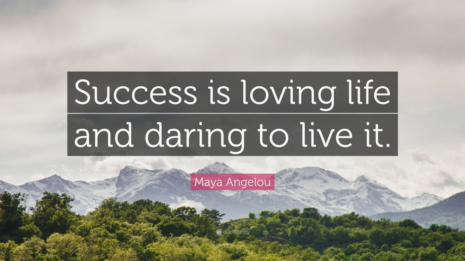 Maya Angelou Success Quotes