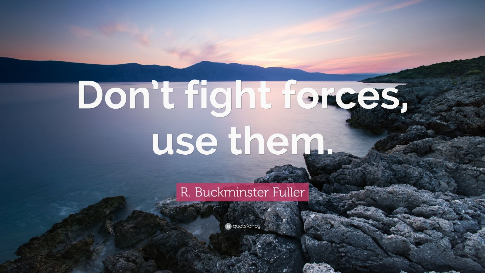 "R. Buckminster Fuller Quote: ""Don't fight forces, use them."""