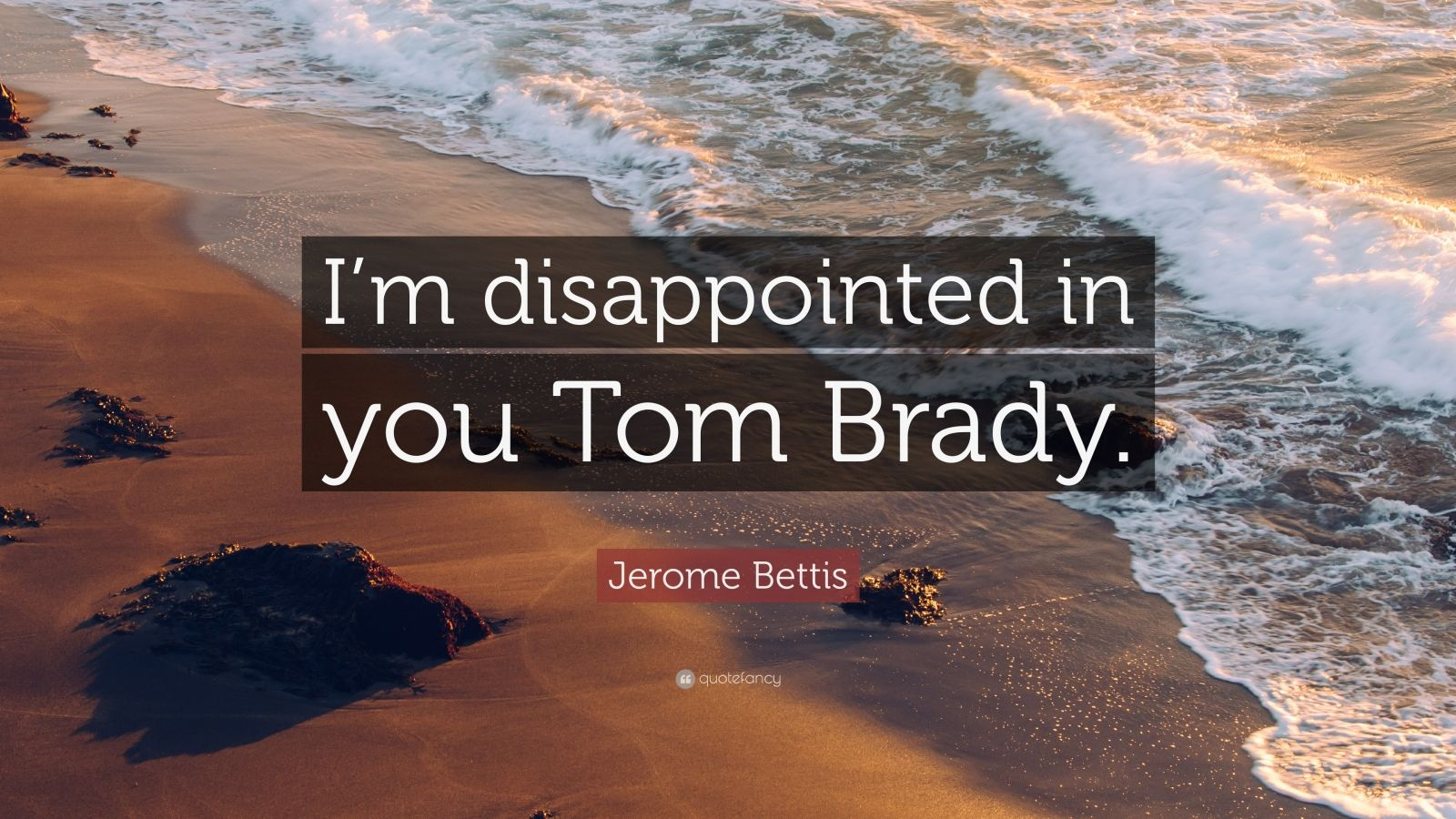 "Jerome Bettis Quote: ""I'm disappointed in you Tom Brady ..."