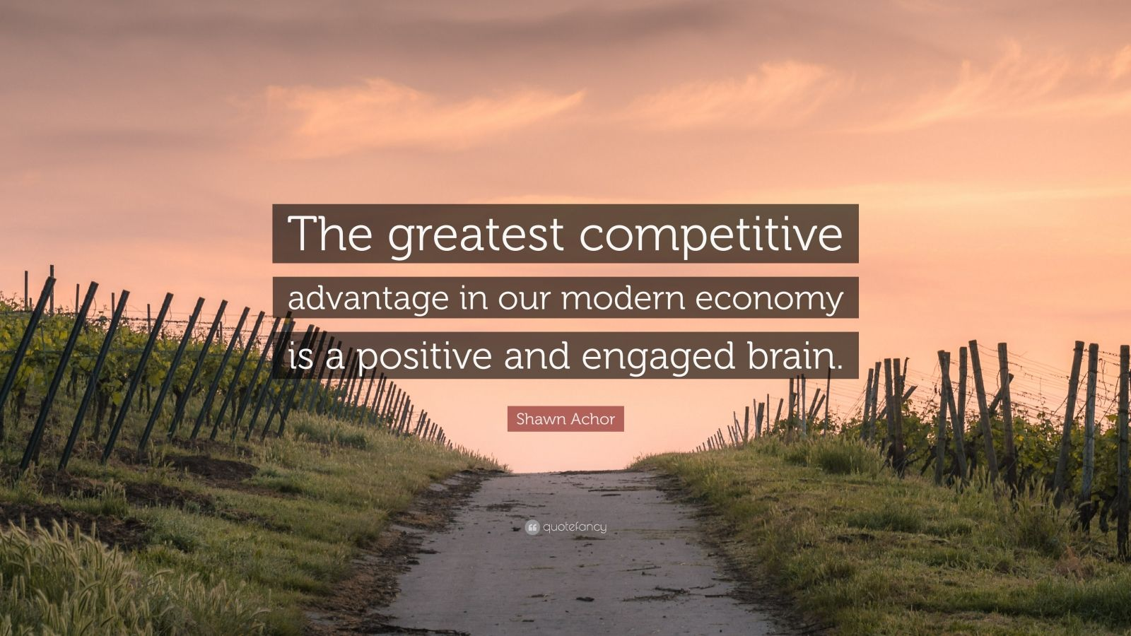 "Shawn Achor Quote: ""The greatest competitive advantage in our modern economy is a positive and engaged brain."""