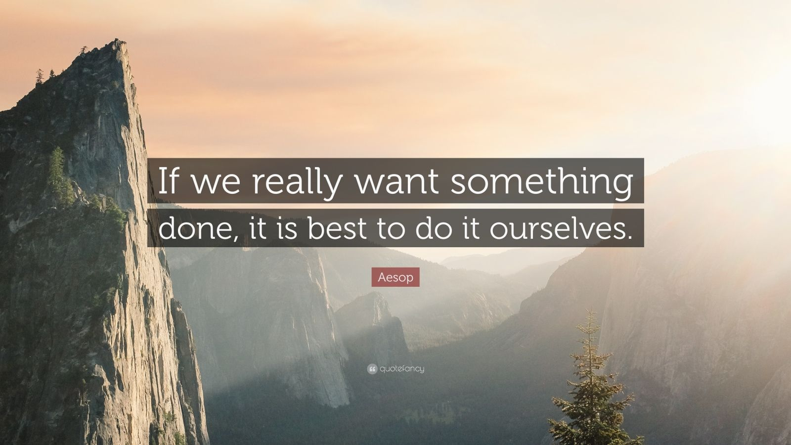 """Aesop Quote: """"If we really want something done, it is best to do it ourselves."""""""