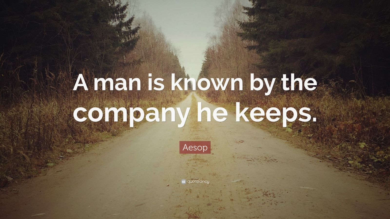 "Aesop Quote: ""A man is known by the company he keeps."""