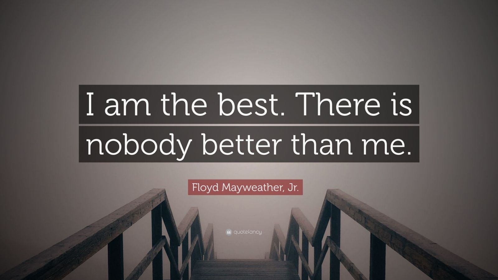 "Floyd Mayweather, Jr. Quote: ""I am the best. There is nobody better than me."""