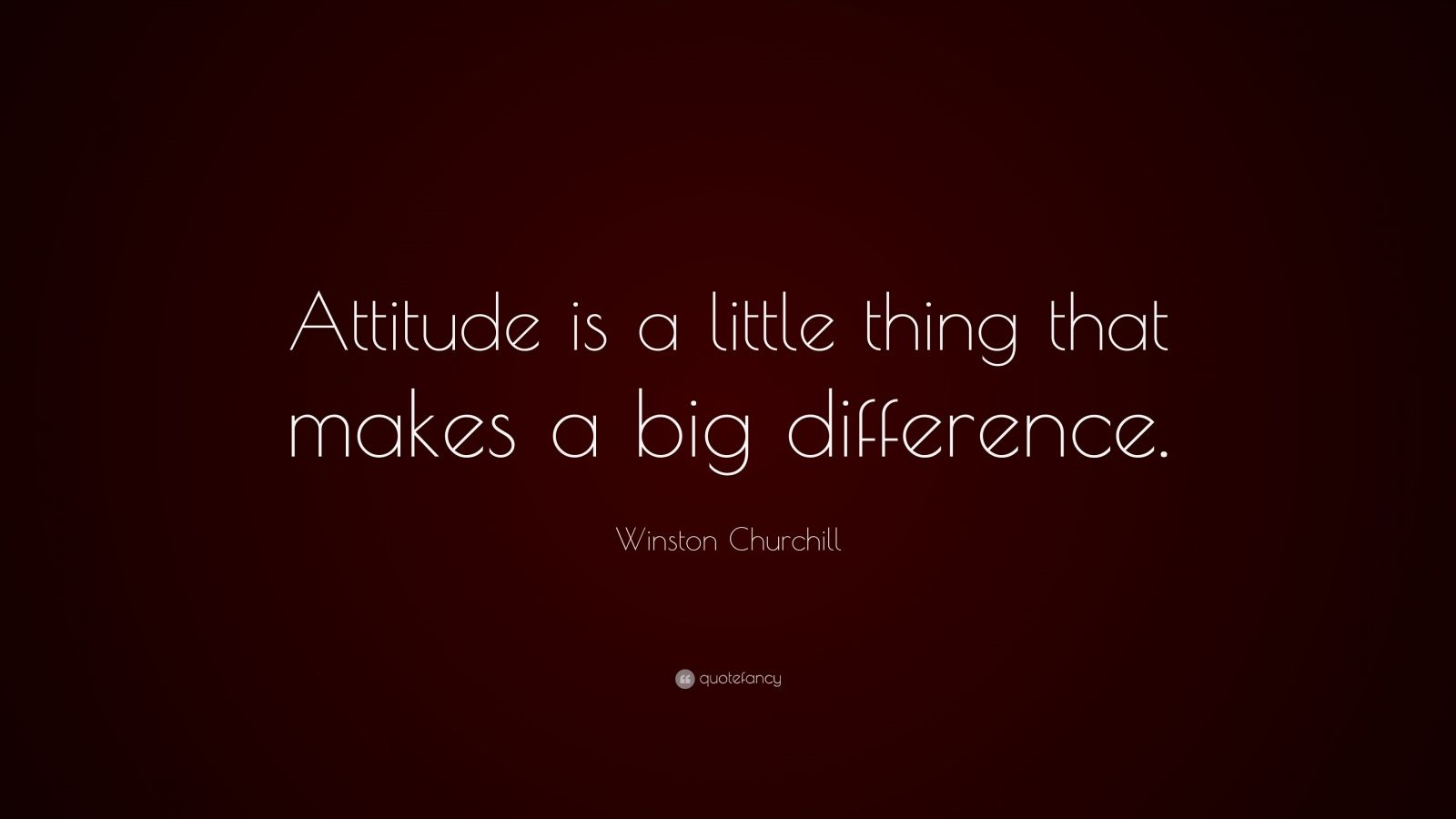 A Little Thing Is Attitude Quote Winston Churchill