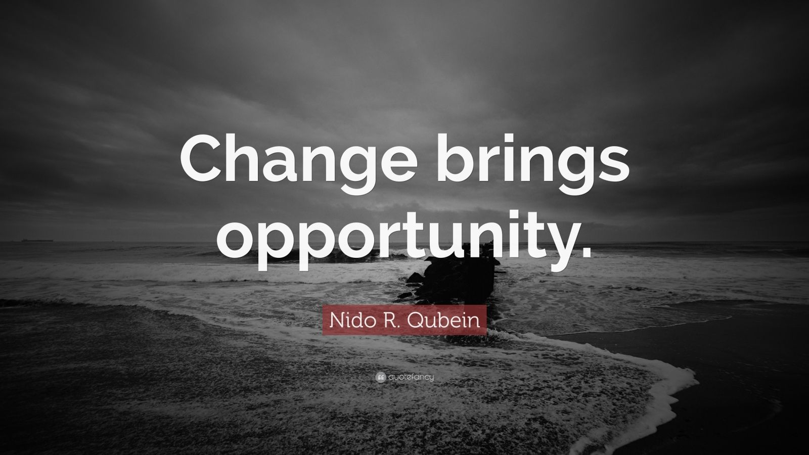 """Nido R. Qubein Quote: """"Change Brings Opportunity."""" (18"""