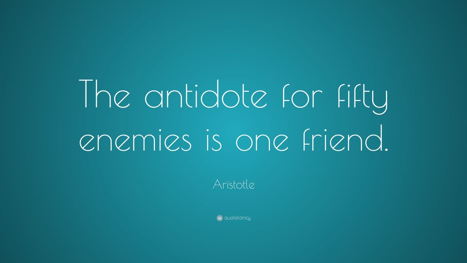 Aristotle Quote On Friends