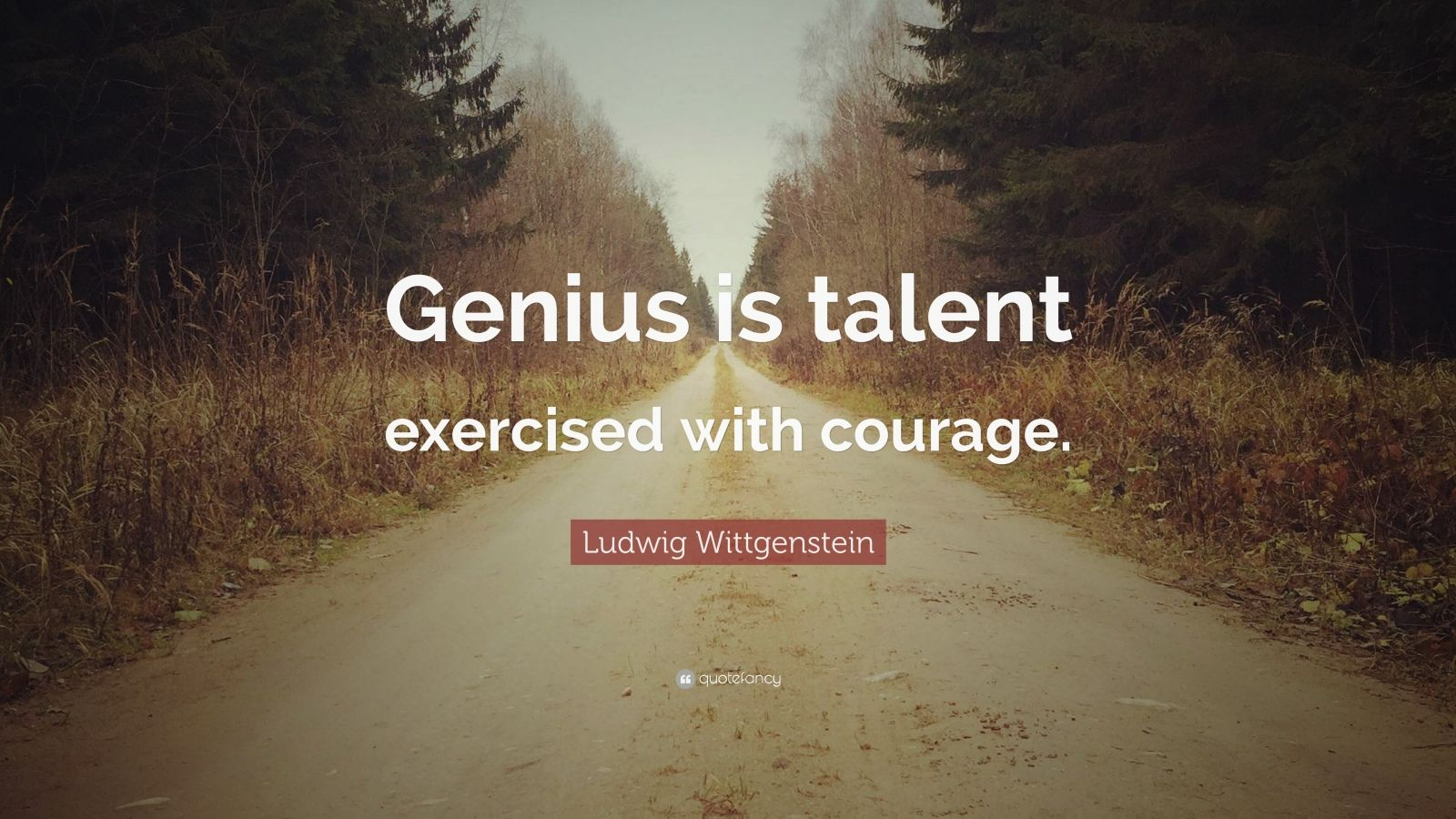 """Ludwig Wittgenstein Quote: """"Genius is talent exercised with courage."""""""