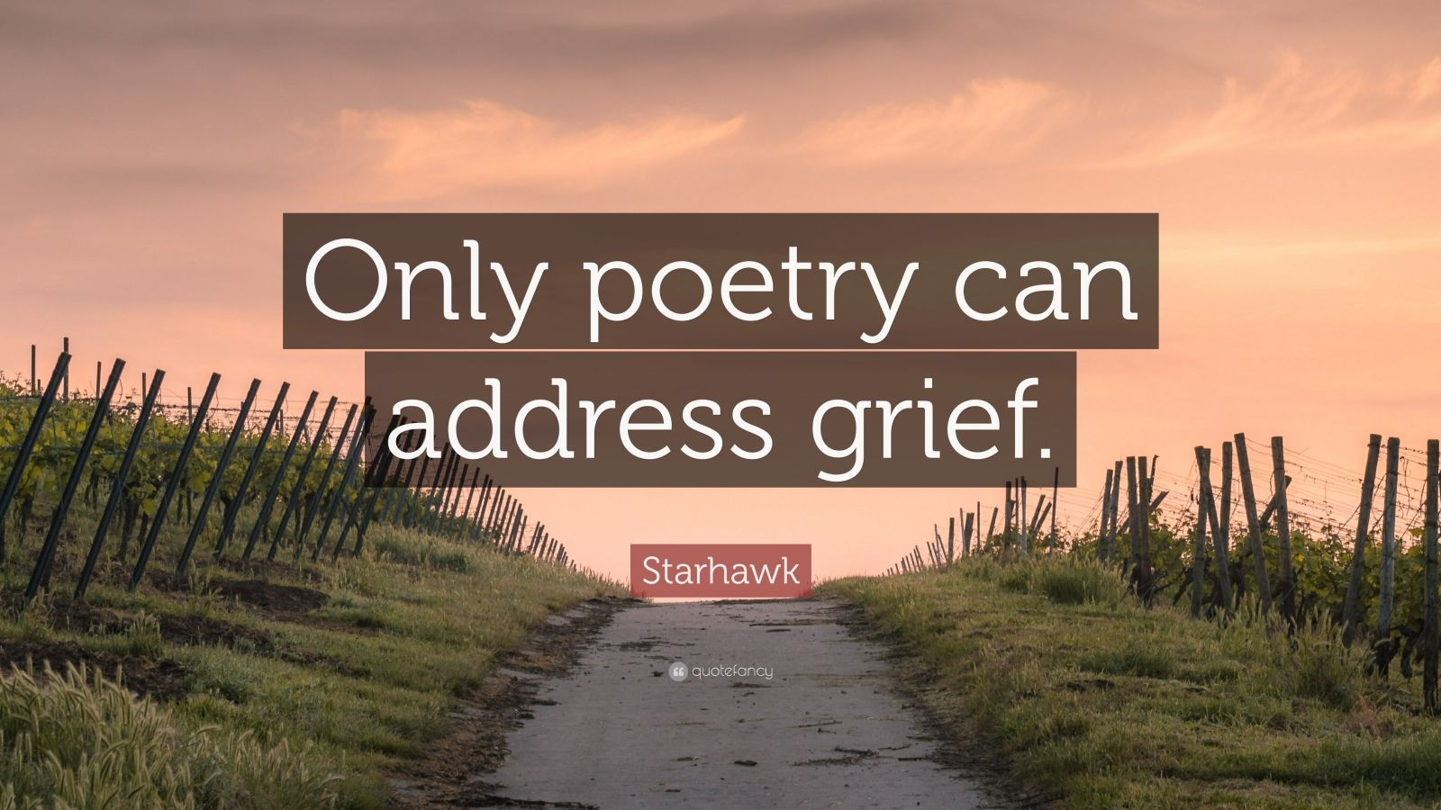 """Starhawk Quote: """"Only poetry can address grief."""""""