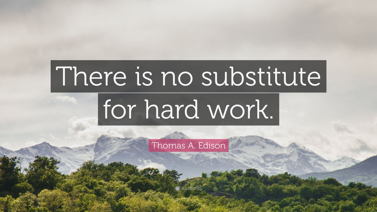 "Thomas A. Edison Quote: ""There is no substitute for hard work."""