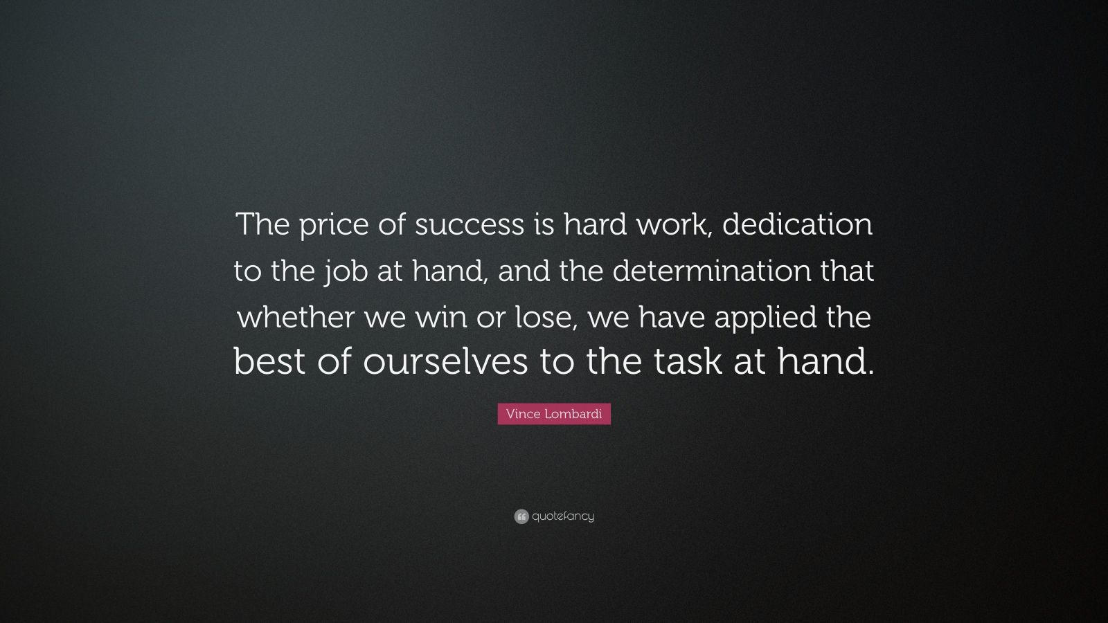 success is hard work Success is the result of perfection, hard work, learning from failure  ambition is the path to success persistence is the vehicle you arrive in -- bill bradley.