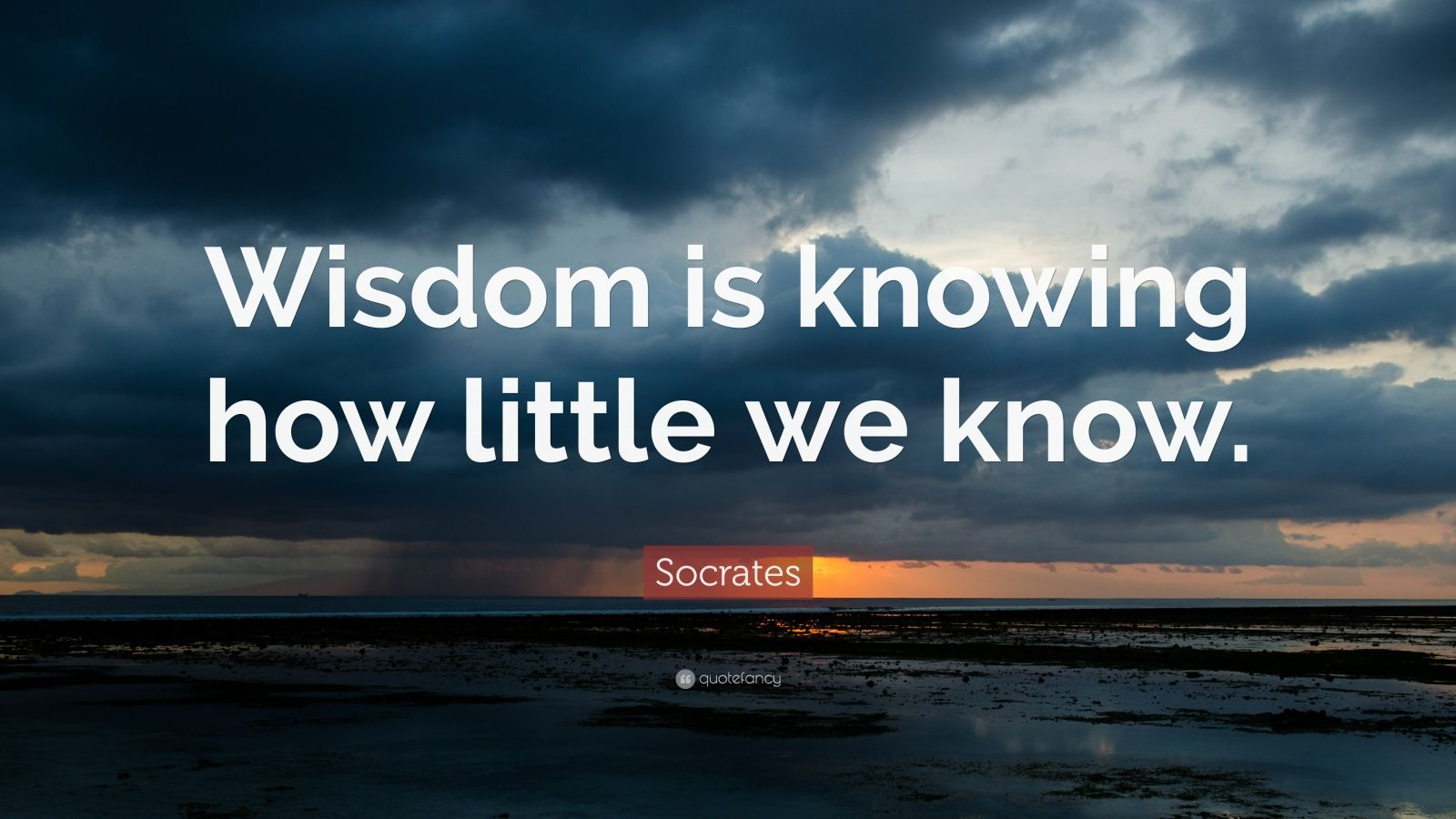 "Socrates Quote: ""Wisdom is knowing how little we know."""