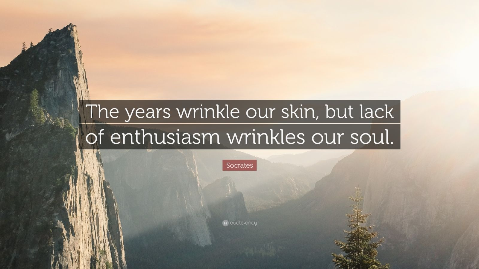 "Socrates Quote: ""The years wrinkle our skin, but lack of enthusiasm wrinkles our soul."""
