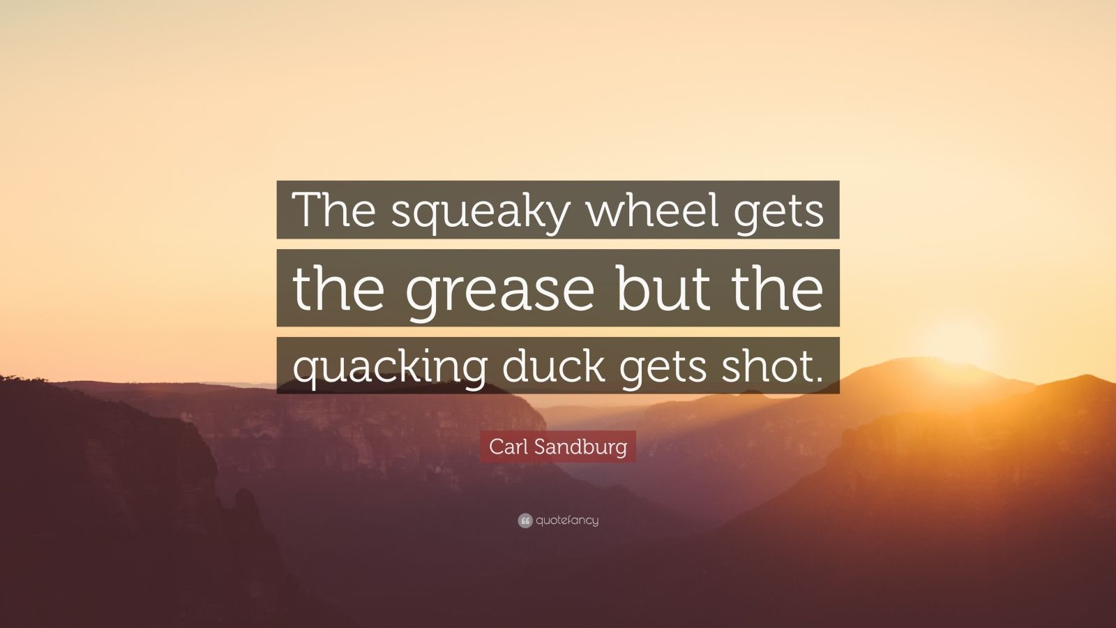 Squeaky wheel gets the grease business plan