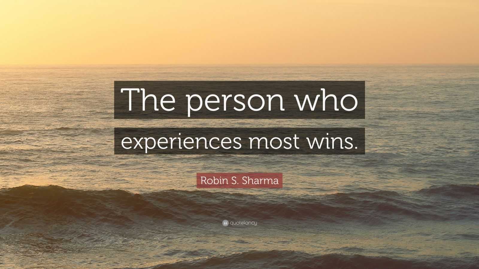 "Robin S. Sharma Quote: ""The person who experiences most wins."""
