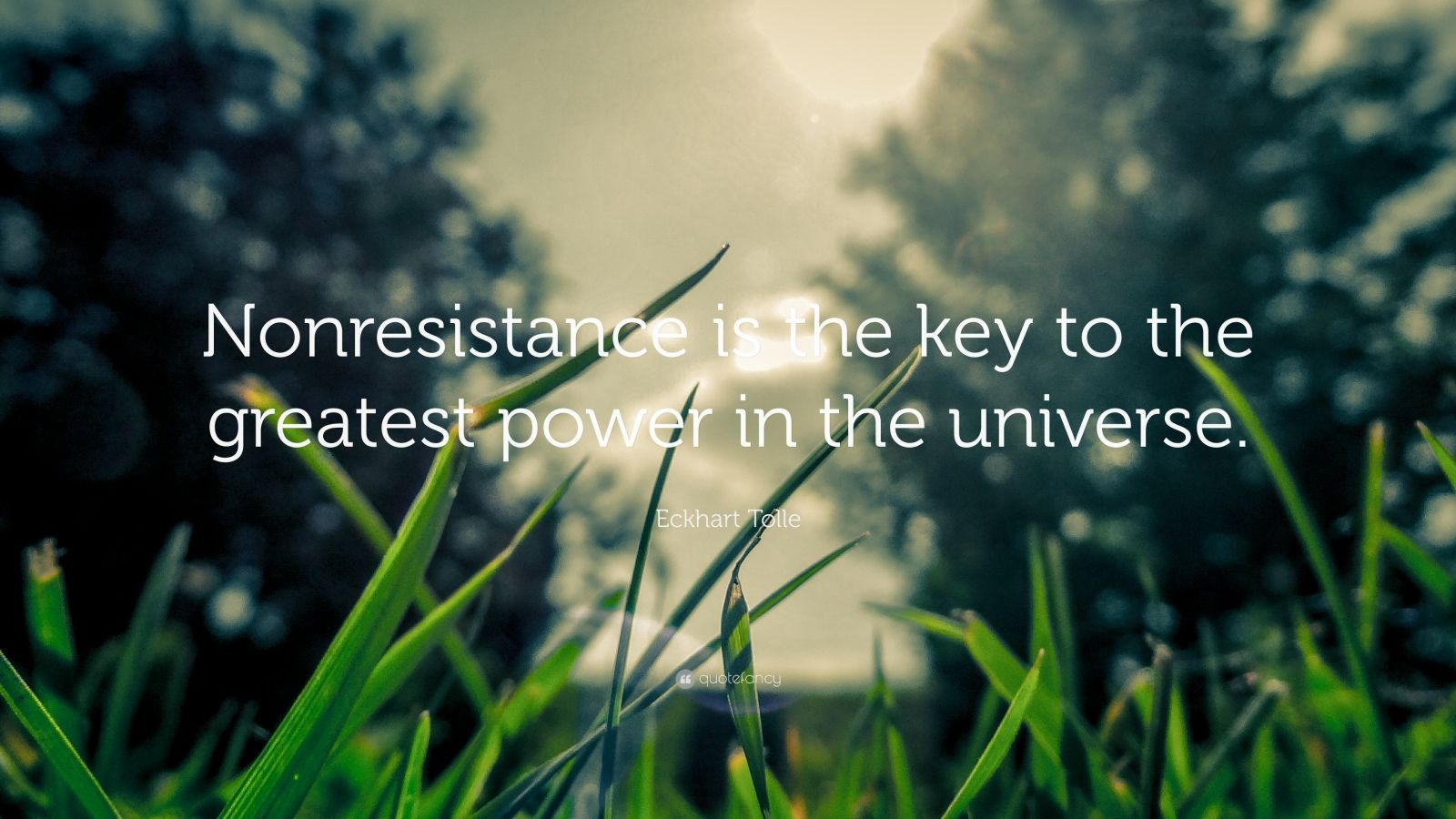 "Eckhart Tolle Quote: ""Nonresistance is the key to the greatest power in the universe."""