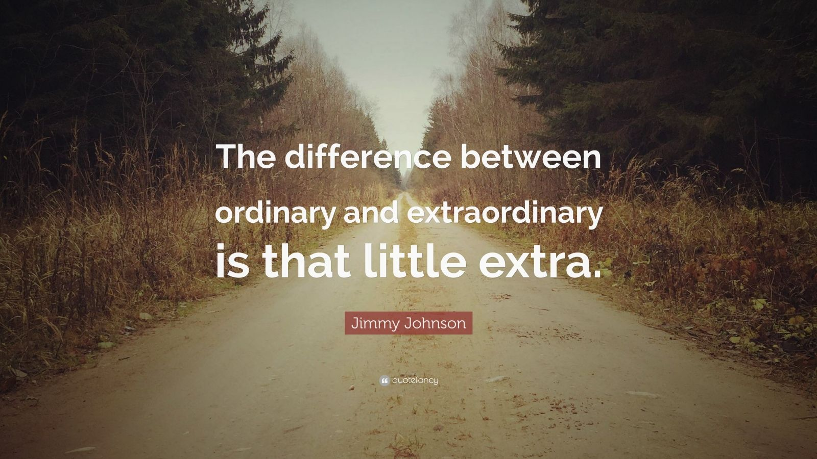 """Those Little Paws Quotes: Jimmy Johnson Quote: """"The Difference Between Ordinary And"""