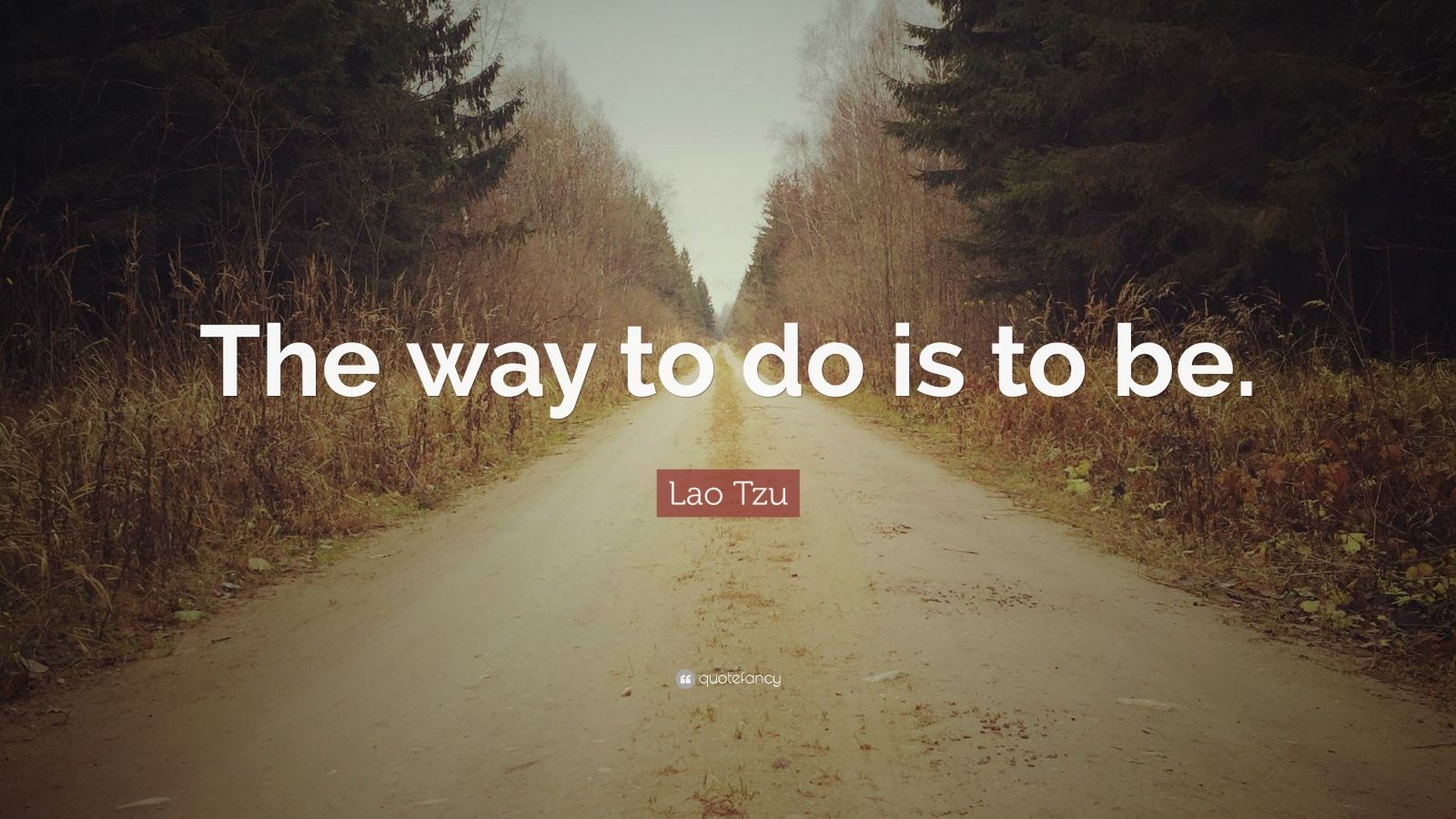 "Lao Tzu Quote: ""The way to do is to be."""