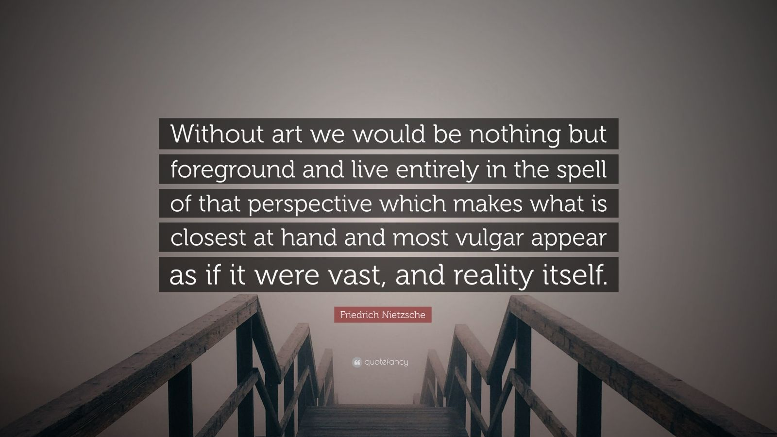 friedrich nietzsche another perspective on reality Richard wagner's influence on friedrich nietzsche his perspective on morality another important aspect of the ring cycle for nietzsche was the power of the.
