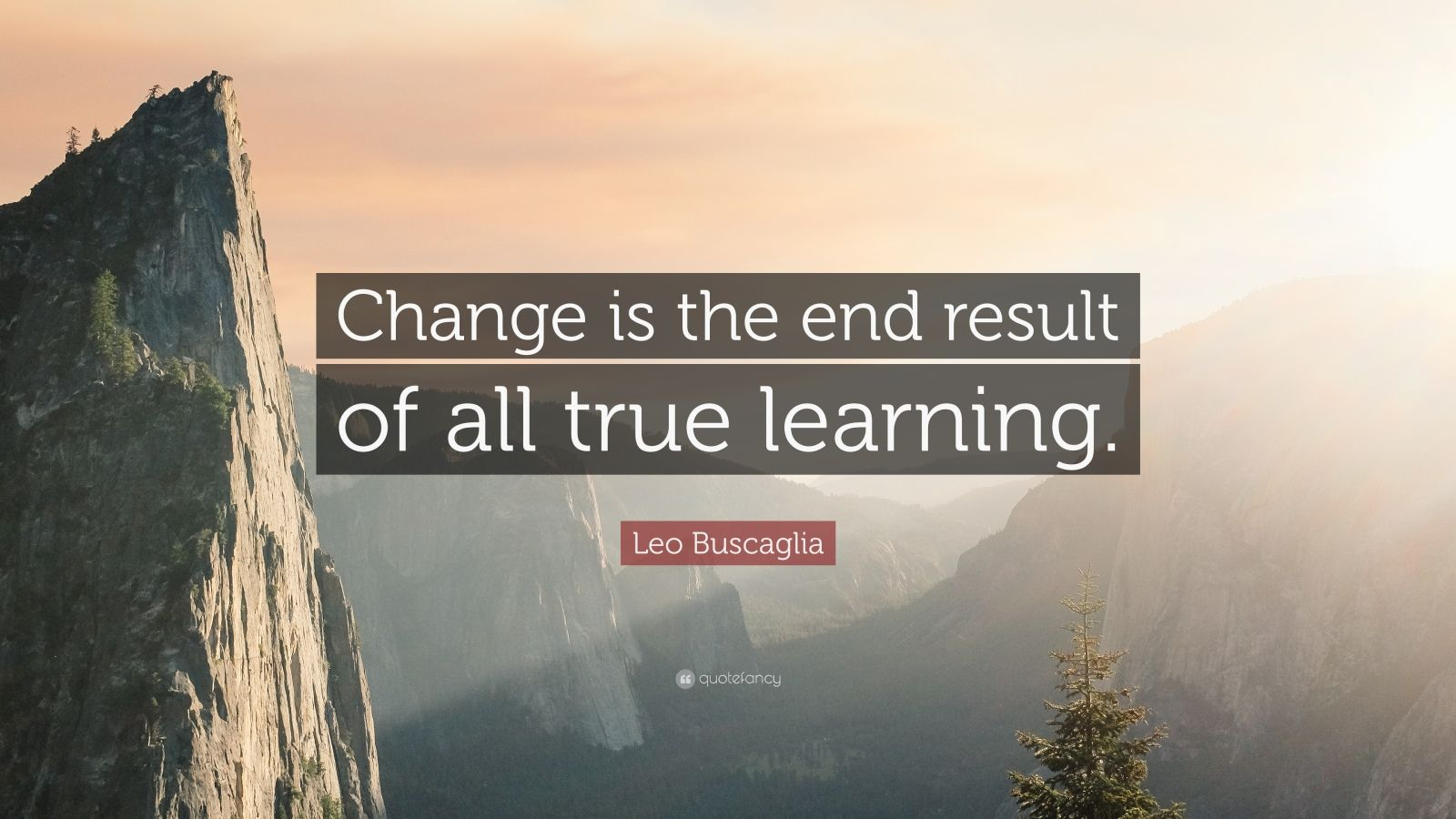 "Leo Buscaglia Quote: ""Change is the end result of all true learning."""