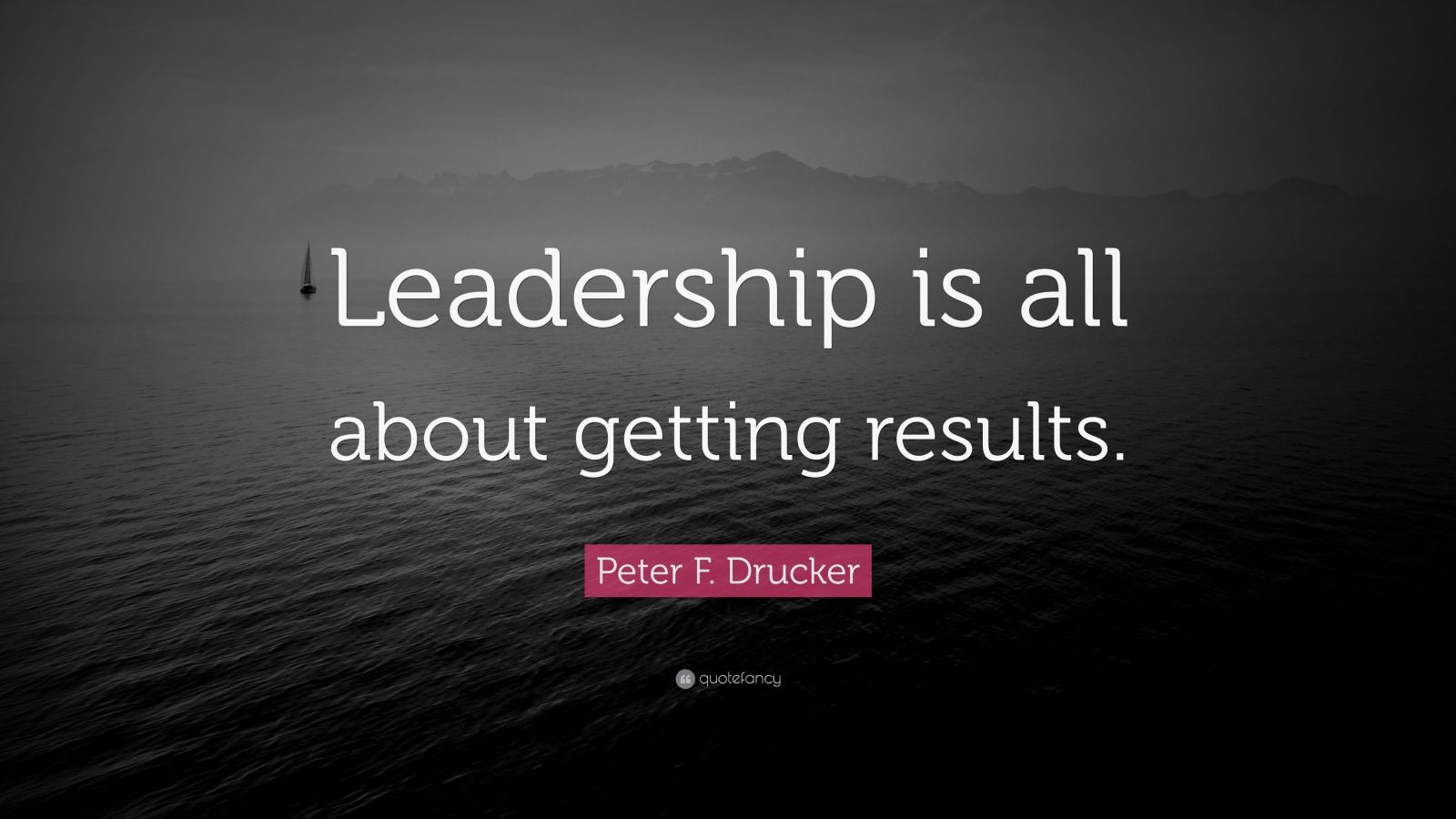 """Peter F. Drucker Quote: """"Leadership is all about getting results."""""""