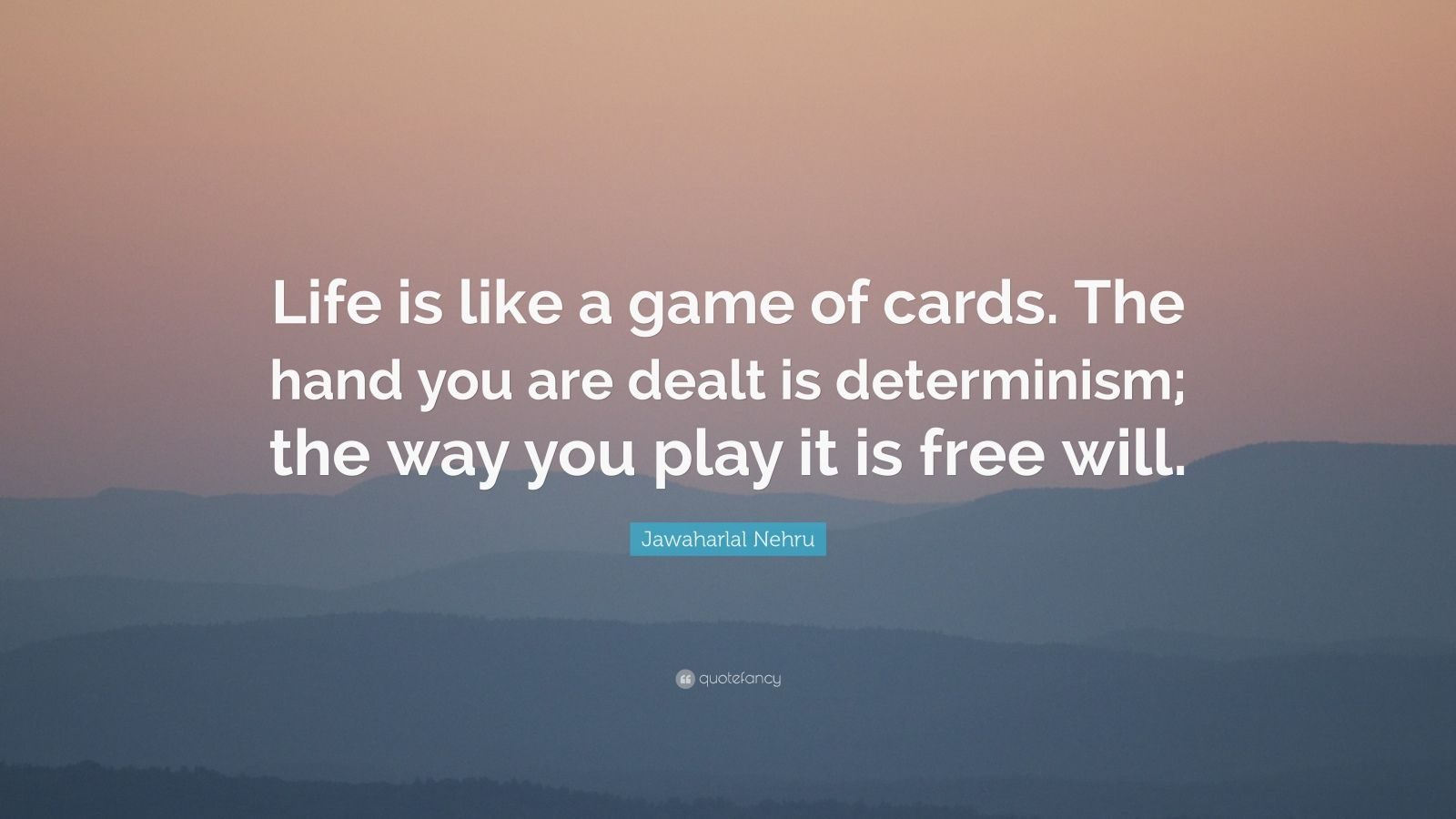 Life is like a game of cards essay