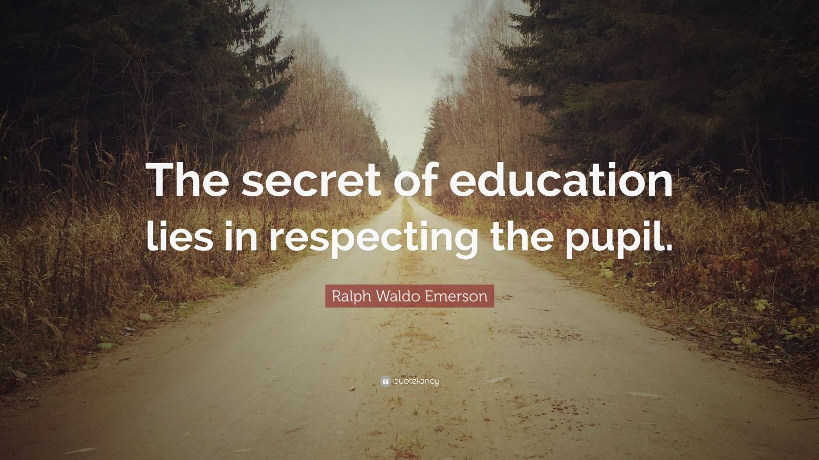 "Ralph Waldo Emerson Quote: ""The Secret Of Education Lies"