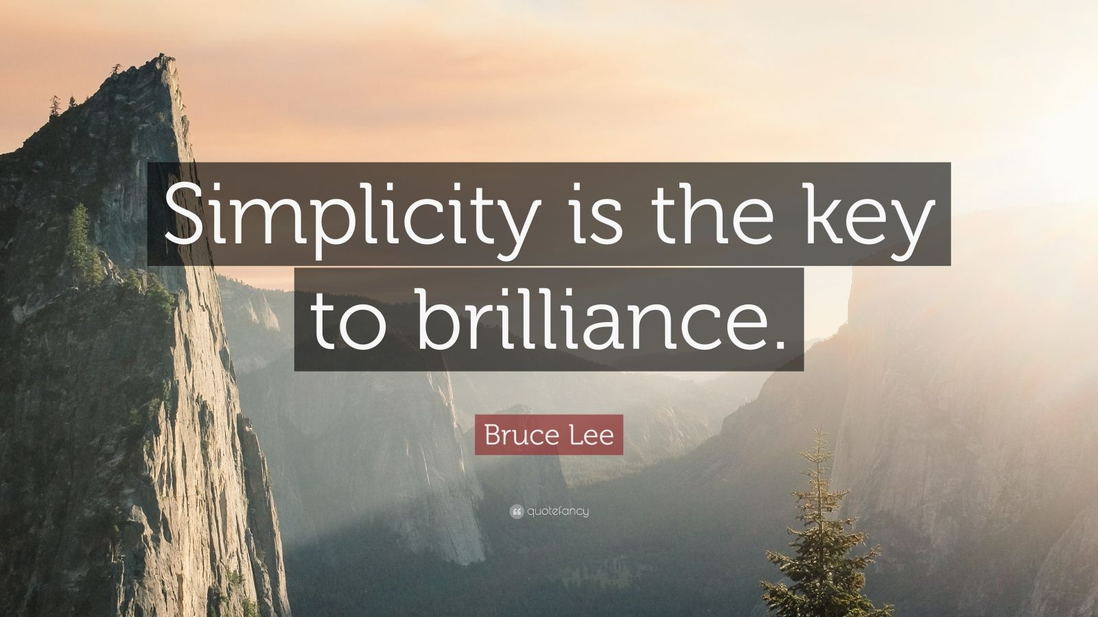 "Bruce Lee Quote: ""Simplicity is the key to brilliance."""