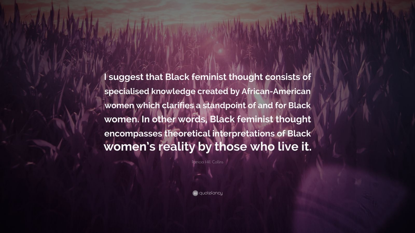 black feminist thought by patricia hill collins Black feminist thought: knowledge, consciousness, and the politics of empowerment (revised 10th anniv 2nd edition) [patricia hill collins] on amazoncom free shipping on qualifying offers.