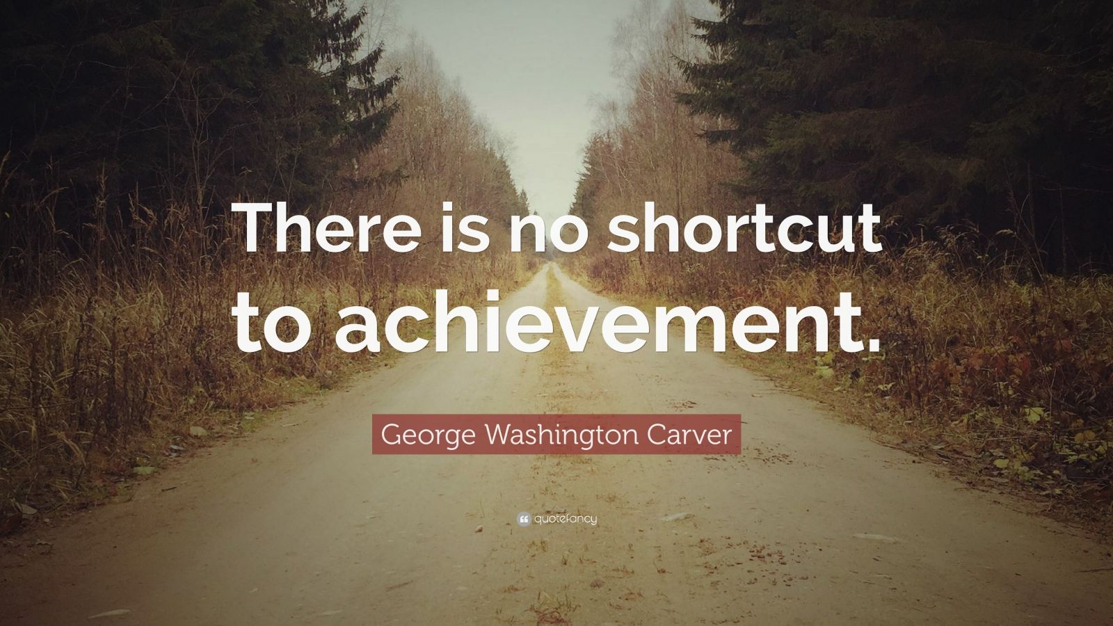 """George Washington Carver Quote: """"There is no shortcut to achievement."""""""