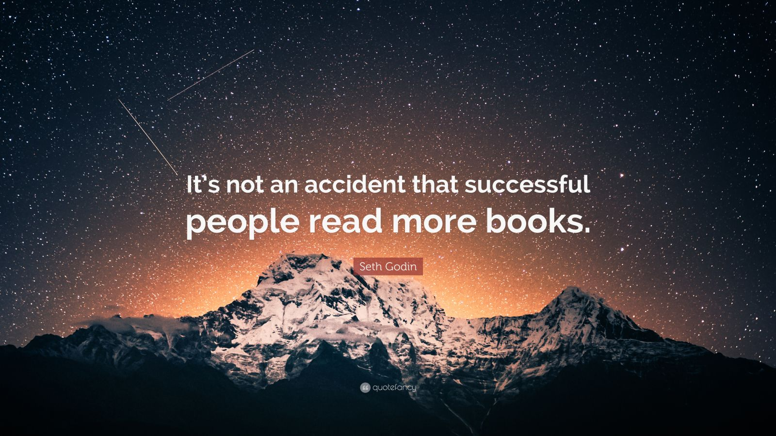 """Seth Godin Quote: """"It's not an accident that successful people read more books."""""""