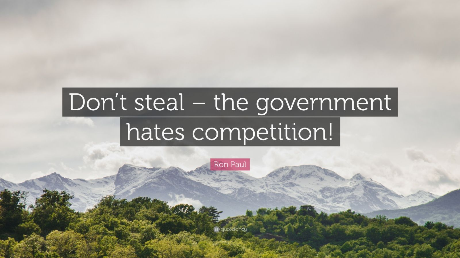 "Ron Paul Quote: ""Don't steal – the government hates competition!"""
