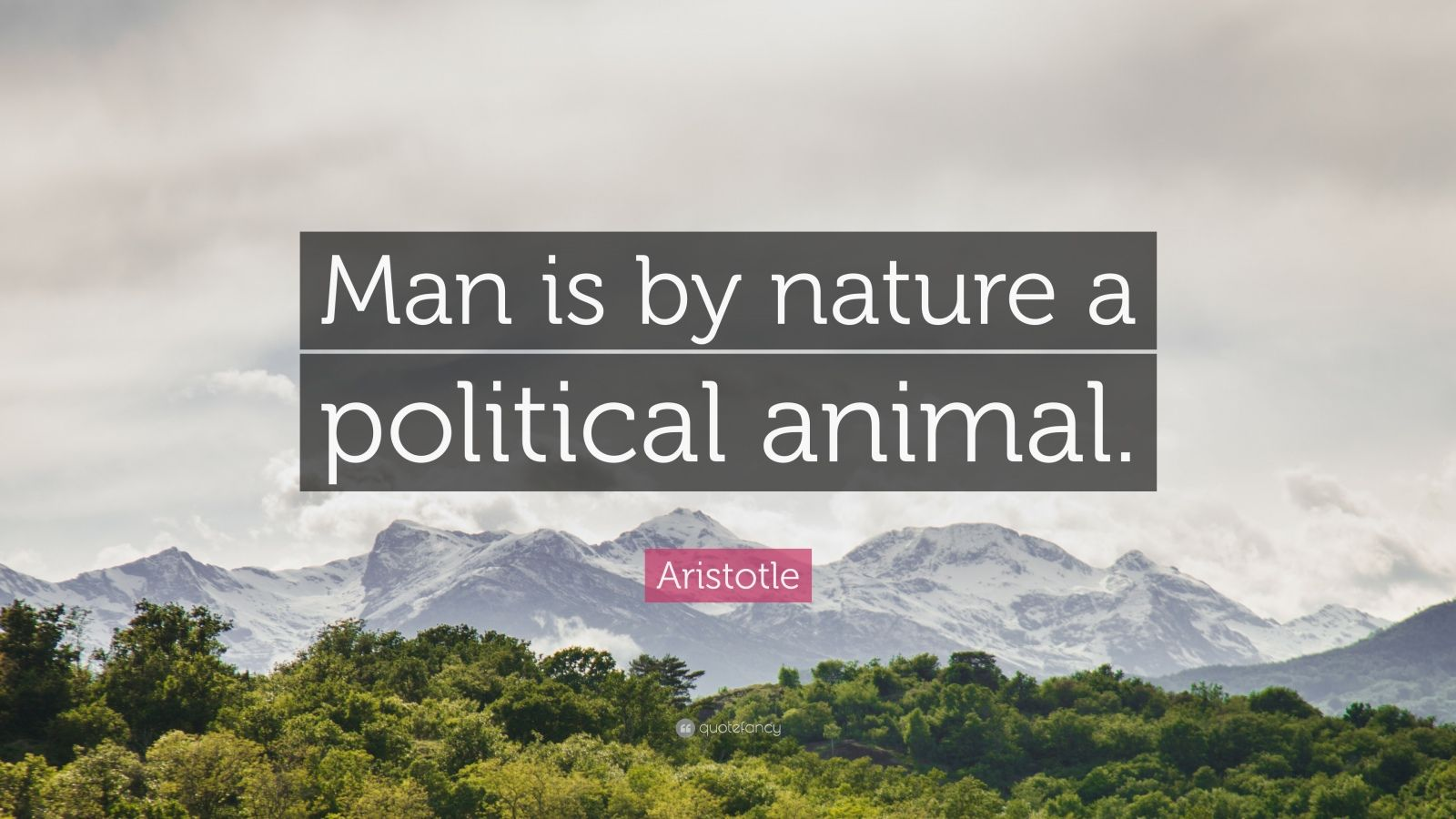 "Aristotle Quote: ""Man is by nature a political animal."""
