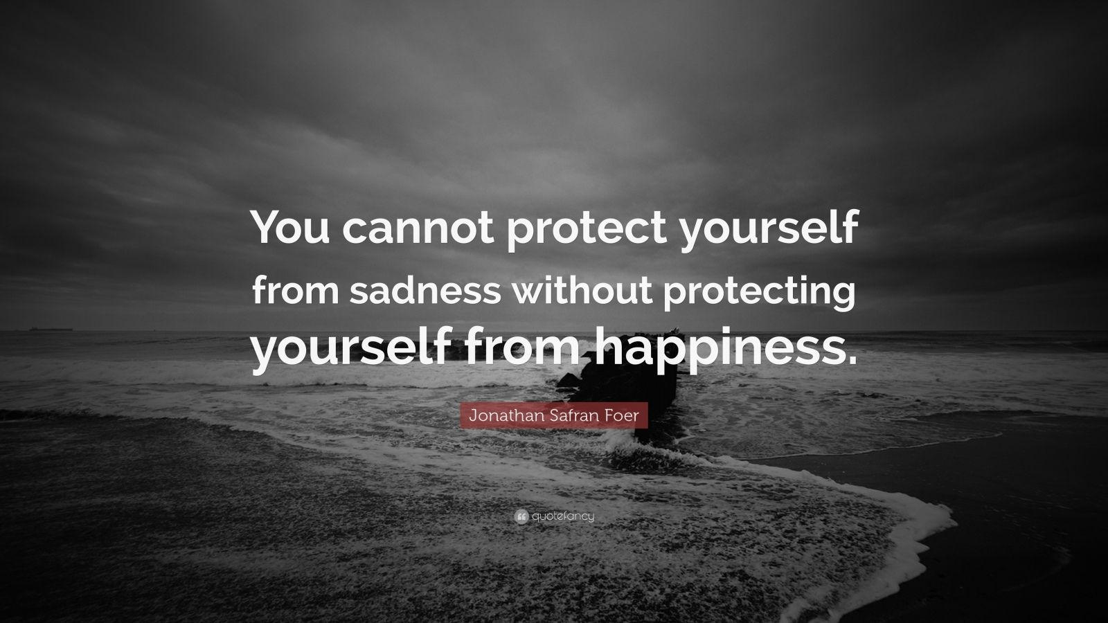 """Jonathan Safran Foer Quote: """"You cannot protect yourself from sadness without protecting yourself from happiness."""""""