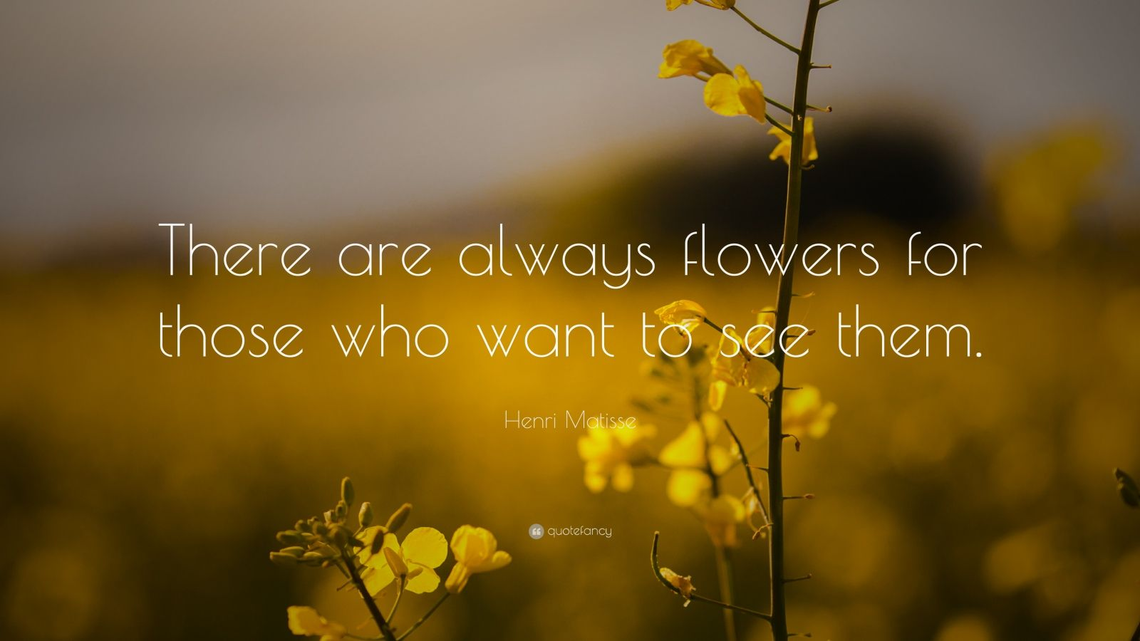 "Henri Matisse Quote: ""There are always flowers for those who want to see them."""