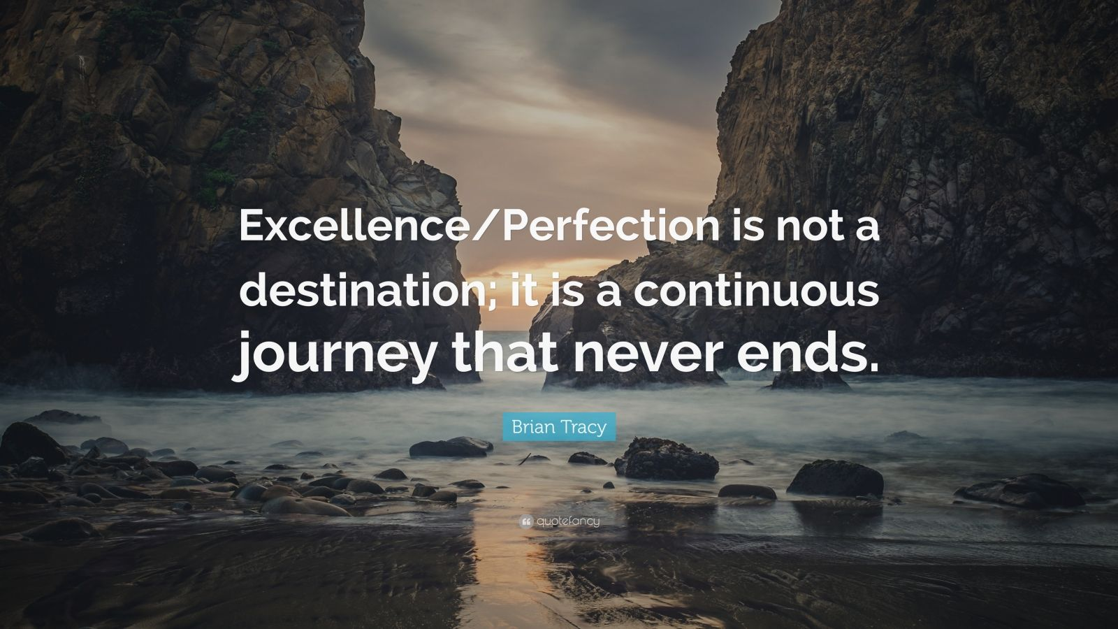 """Brian Tracy Quote: """"Excellence/Perfection is not a ..."""